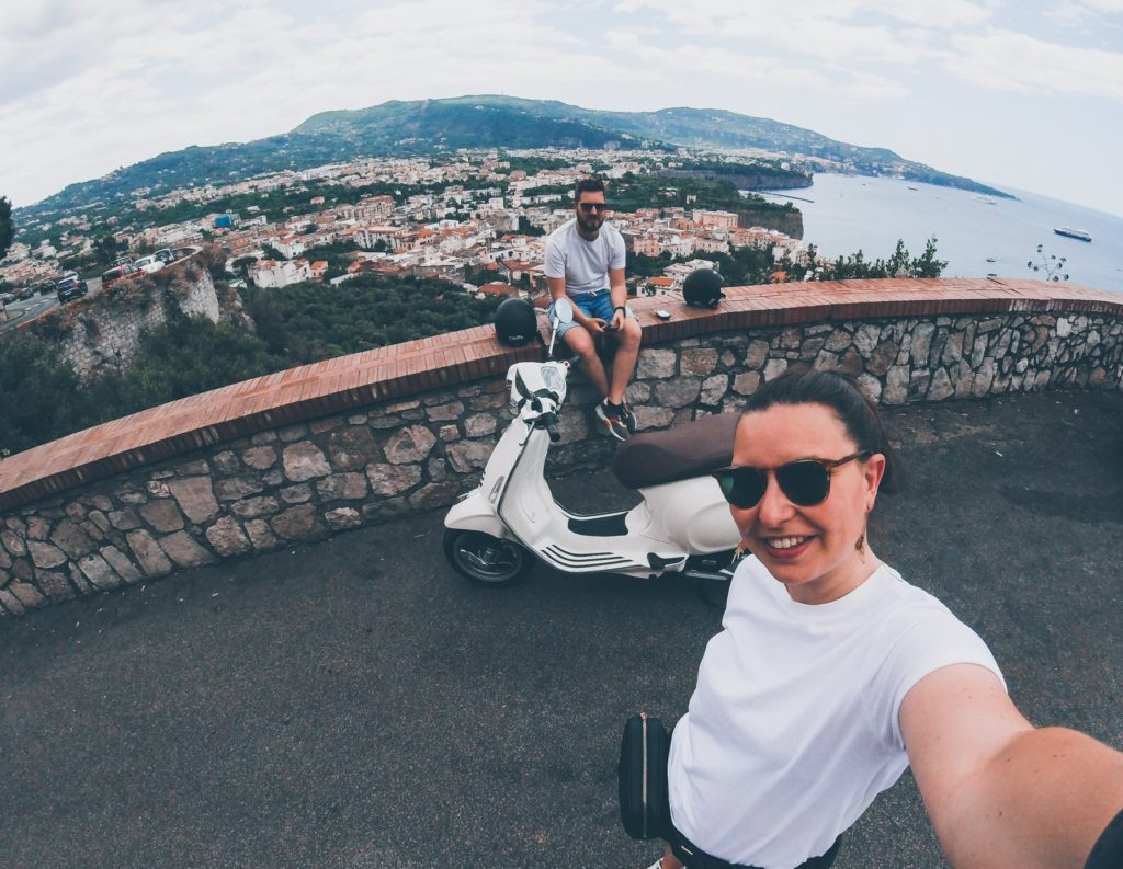 picture of The Vespa Trip with a view of Sorrento at the Amalfi Coast