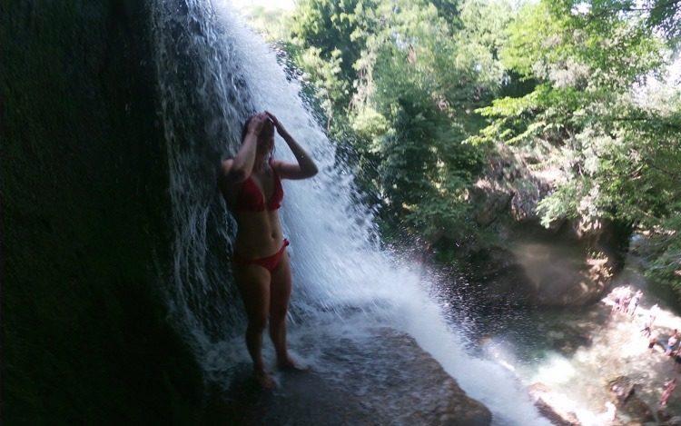 waterfall in campania